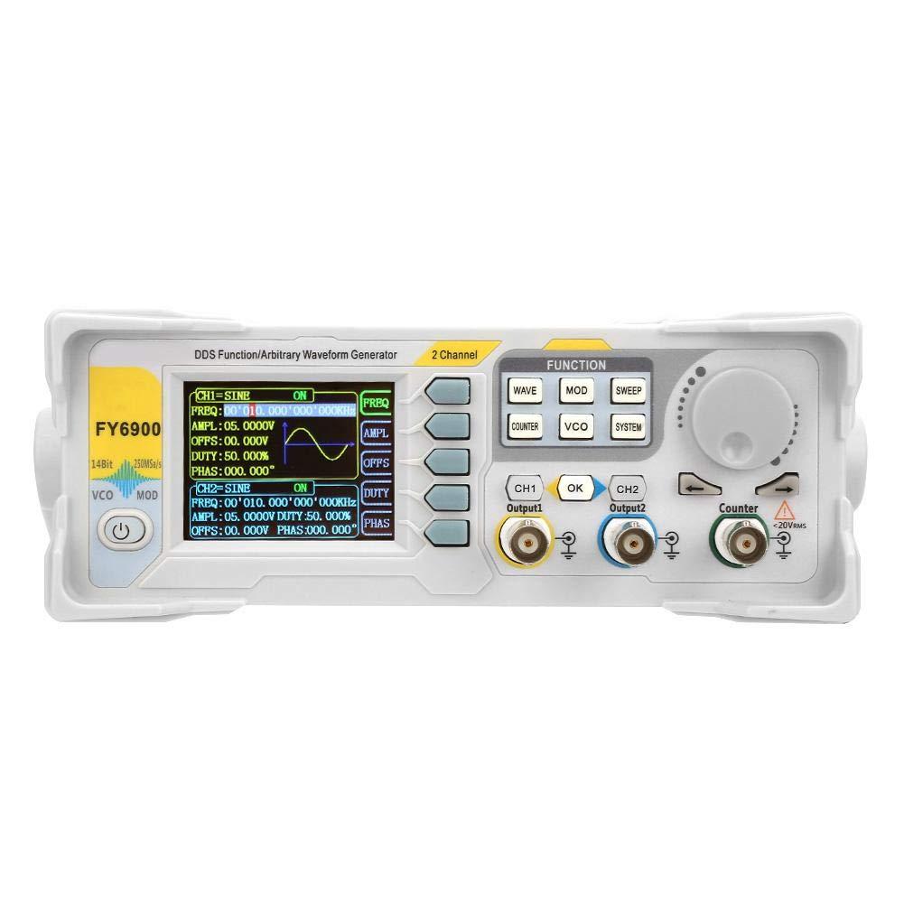 US Plug Wocume FY6900 Sine 0-40 MHZ 2.4in TFT Screen Digital Signal Generator Measurement