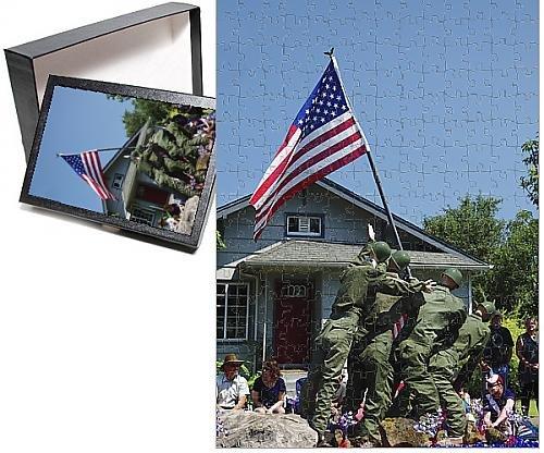 [Photo Jigsaw Puzzle of Iwo Jima Replica, float; July 4th parade; Ridgefield; Washington; USA] (4th Of July Costumes Australia)