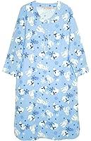 La Cera Women's Plus-Size Flannel Nightshirt