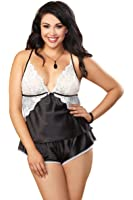 Dreamgirl 9683X Women's Plus Size Midnight Maven Camisole And Short Set