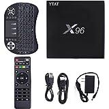 X96 Plus Smart Streaming Media Players, Android 6.0 KODI 16.1 4K Smart TV Box, Quad Core 2GB/16GB with Wireless Keyboard by YTAT