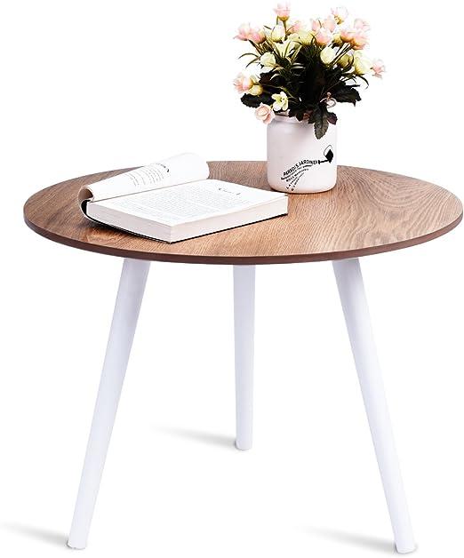 Dreamade Holztisch Rund Tisch Klein Esstisch Kuchentisch
