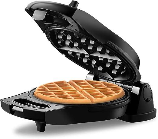 Flip Belgian Round Waffle Maker Non Stick Stainless Steel