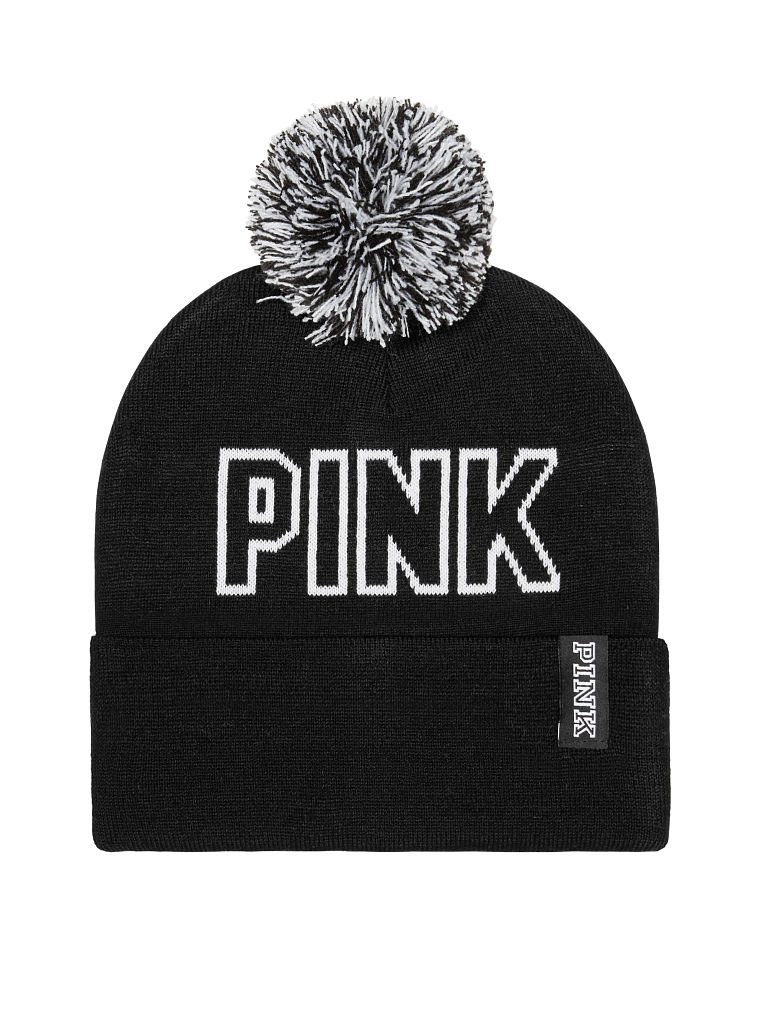 87a9d86bb65 Amazon.com   VICTORIA SECRET PINK NATION BLACK WINTER HAT BEANIE SOLD OUT  LIMITED EDITION   Everything Else