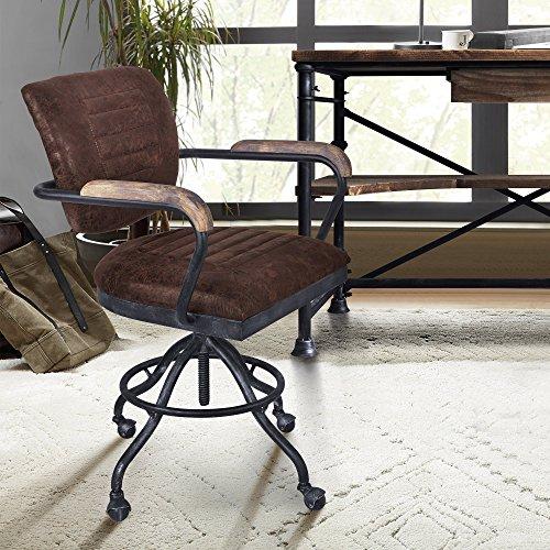 (Armen Living LCBIOFSBBR Brice Office Chair, Industrial Gray)