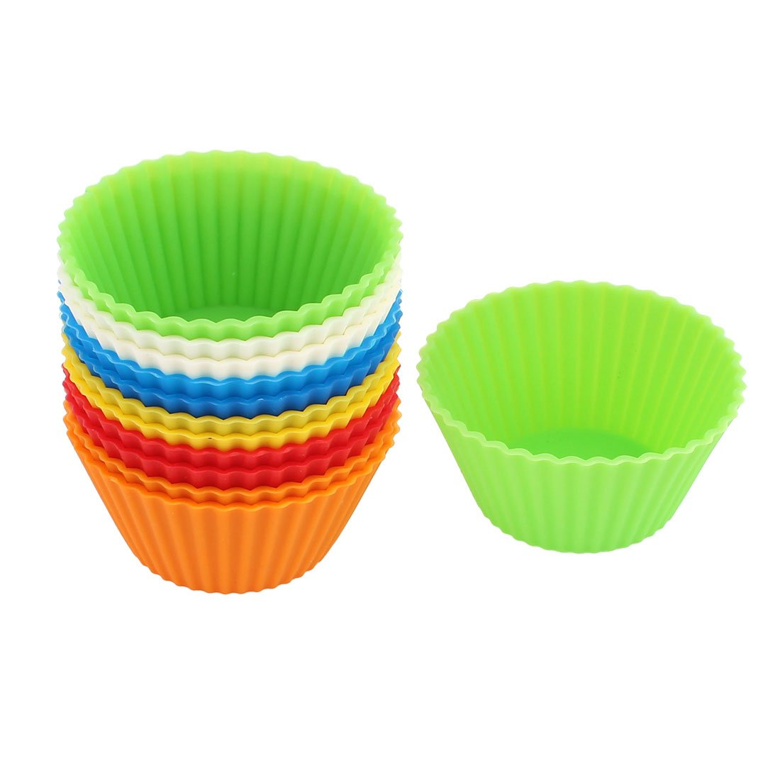 Amazon.com: Silicone Muffin Egg Tart Cake Mold Cupcake Baking Cup Mould 12PCS: Kitchen & Dining