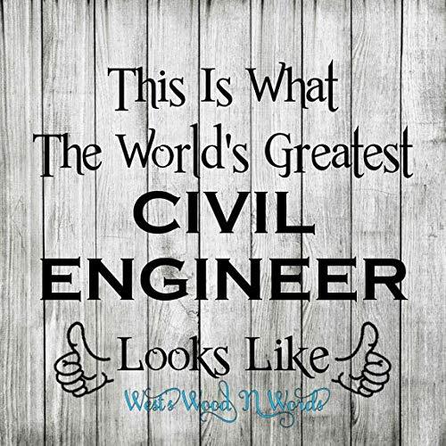 MarthaFox Civil Engineer Wood Sign