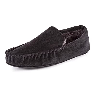 ff8c5b221576 Totes Mens Cord Moccasin Slippers  Amazon.co.uk  Shoes   Bags