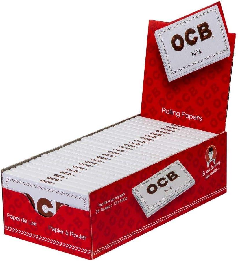 OCB Classic - Papel de fumar, 1 caja x 25 hojas: Amazon.es ...