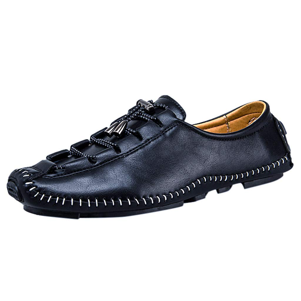 Men's Business Shoes Casual Flat British Wind Shoes Teresamoon Black