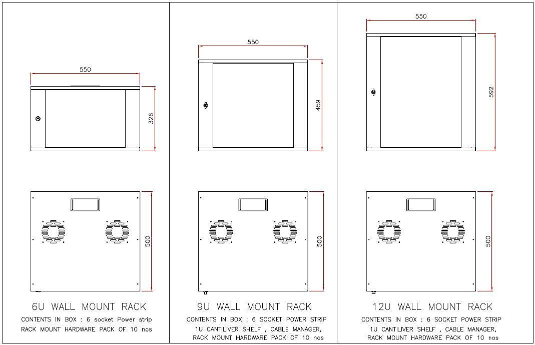 9u Wall Mount Rack Online At Low In India