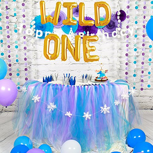 Cheap WILD ONE Birthday Decoration Balloons Baby Theme Party Supplies 16 Gold Foil