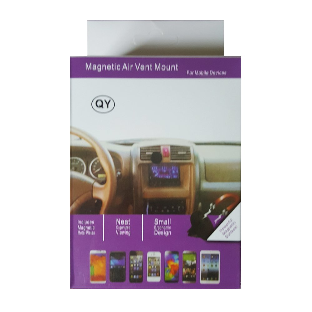 Safe Travels Magnetic Mount Universal Air Vent Cell Phone Holder for Samsung and iPhones