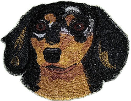 hund Longhaired Dog Face Embroidery IronOn/Sew patch [5