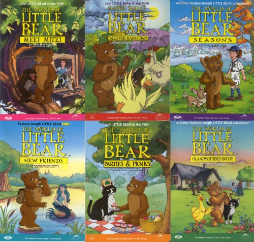 The World of Little Bear (6 Pack) Grandmother's House / Meet Mitzi / New Friends / Parties and Picnics / Seasons / Tales for Rainy (Feel Better Little Bear Dvd)