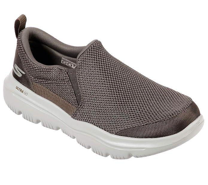 Skechers Mens Evolution Low Top Slip On Fashion Sneakers, Khaki, Size 11.5