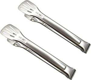 304 Stainless Steel Kitchen Tongs 2 Packs,Easy to clean salad tongs,Cooking Tongs,Heat Resistant,Non-slip Cooking Tongs for Grilling,Frying and Serving Utensils