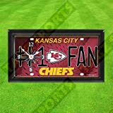 KANSAS CITY CHIEFS WALL CLOCK - BY TAGZ SPORTS