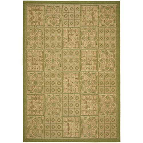 Safavieh Courtyard Collection CY6947-44 Green and Natural Indoor/ Outdoor Area Rug (9' x - Rug Natural Rectangle Green