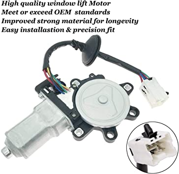 Front Left Driver Side Power Window Lift Motor for 2003-2009 Nissan 350Z 2003-2007 Infiniti G35 2 Door Coupe Model Replace # 80731-CD00A 80731CD00A