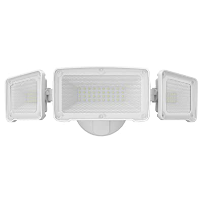 LEPOWER 3500LM LED Flood light Outdoor, Switch Controlled LED Security Light, 35W Super Bright Exterior Lights with 3 Adjustable Head, 5500K, Full Metal Design, IP65 Waterproof for Garage, Yard, Patio: Home Improvement
