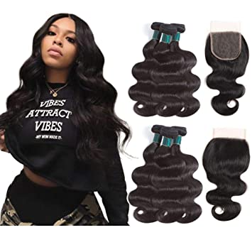 3/4 Bundles With Closure Practical 3 Bundles Peruvian Afro Kinky Curly With Closure Pre Plucked With Baby Hair Bouncy Curl No Shedding No Tangle Non Remy Black 1b Refreshment
