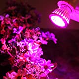 Tiean E27 10W LED Grow Light Veg Flower Indoor Plant Hydroponics Full Spectrum Lamp