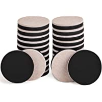 24PCS Furniture Sliders 2.5 Inch Felt Sliders Furniture Pads for Hardwood Floors and All Hard Surfaces