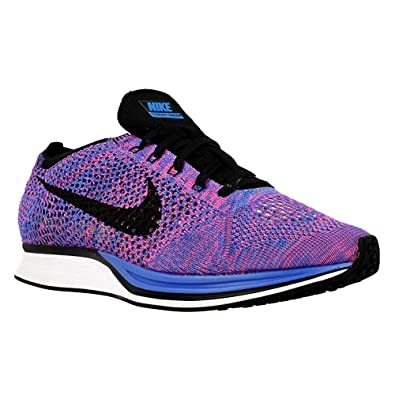 new concept 490d0 d95cf Amazon.com   Nike Men s Flyknit Racer, GAME ROYAL BLACK-PINK FLASH, 10.5 M  US ...   Road Running