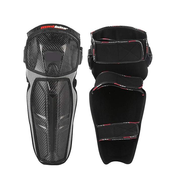 Rodilleras Profesionales Almohadillas de la Rodilla de la Motocicleta Adultos Transpirable Ajustable de Fibra de aramida Motocross MTB espinilleras para ...