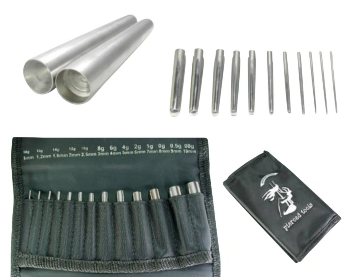 13pc Set Calor Style of Insertion Taper 18g-00g (1mm-10mm) Expanders Lobe Expansion