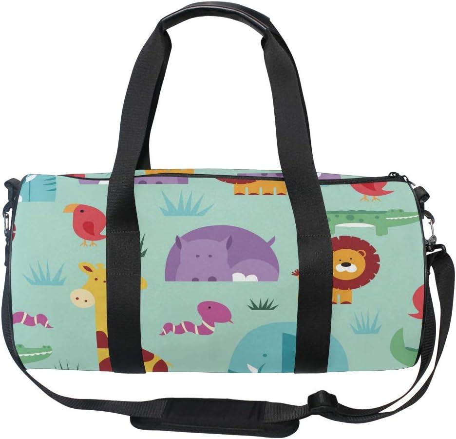 MALPLENA African Continent Drum gym duffel bag women Travel Bag