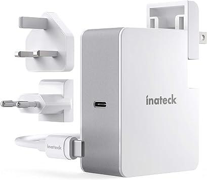 Inateck - Cargador USB C de 45 W con Cable USB C de 2 m, Fuente de ...