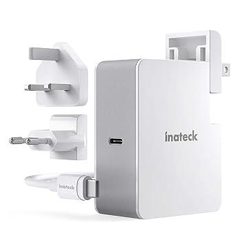 Inateck - Cargador USB C de 45 W con Cable USB C de 2 m, Fuente de alimentación Power Delivery Tipo C para portátil y Muchos Otros Dispositivos USB C, ...