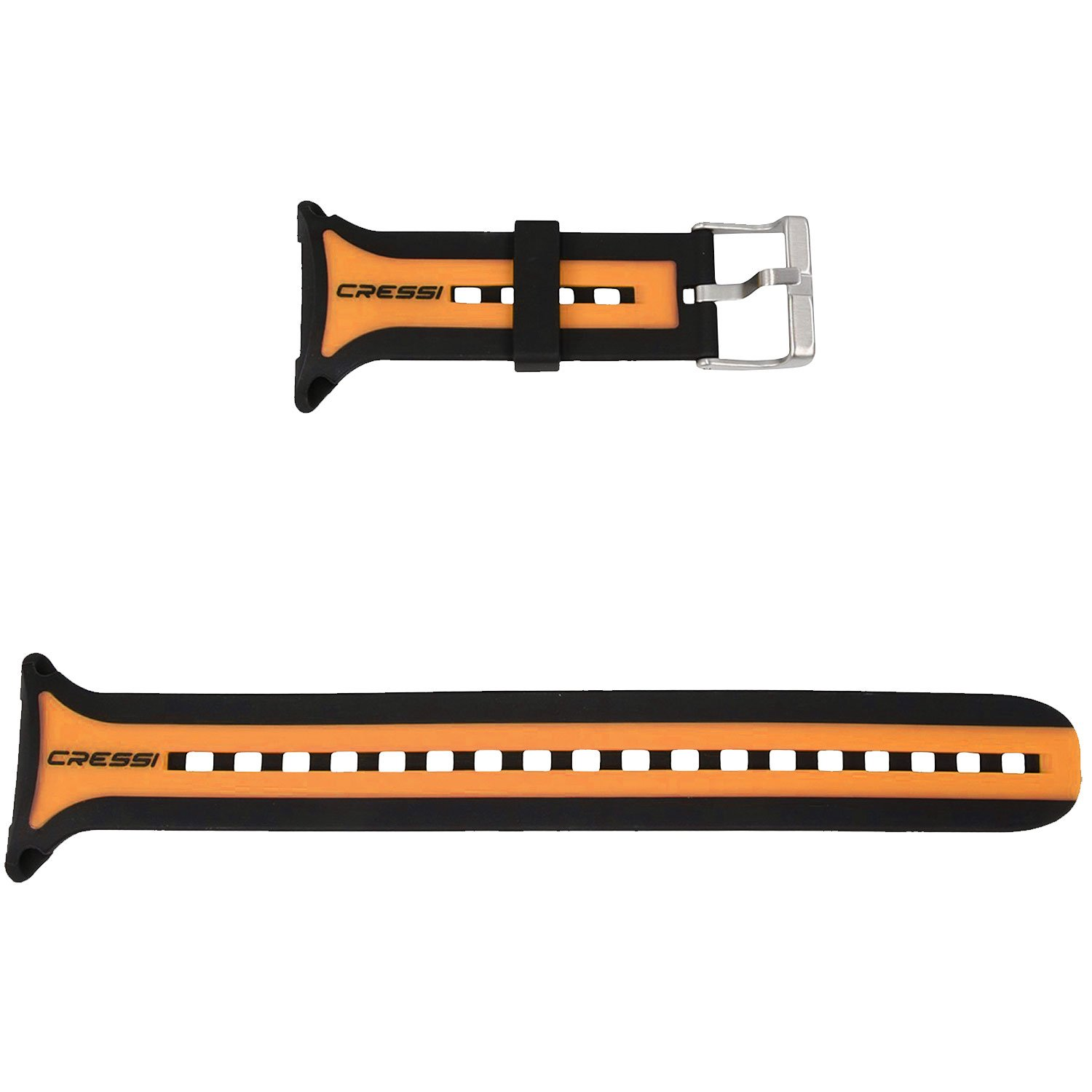 Cressi Watchband for Leonardo, Black/Orange