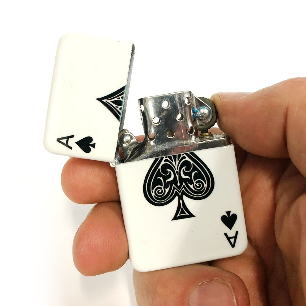 Ace of spade flip lighter