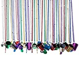 Party Beads Necklaces With Super Sized Charms; 36 Bulk Pack, Fun Party ...