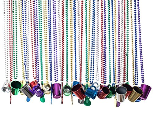 Party Beads Necklaces With Super Sized Charms; 36 Bulk Pack, Fun Party Beaded (Buy Mardi Gras Beads In Bulk)
