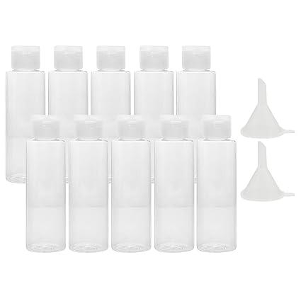 Botella del Recorrido[10PCS], Vococal® 100ml Claro Plástico Aire Vuelo Botellas Conjunto