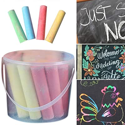 Color Chalk for Kids - 15/20 Pack Dust Free Chalk Pavement Chalk for Kids Won\'t Roll Away Jumbo Sidewalk Chalk Bucket Set Perfect Easter Basket Stuffers Street Art Painting (A-20 PC): Electronics [5Bkhe0404120]