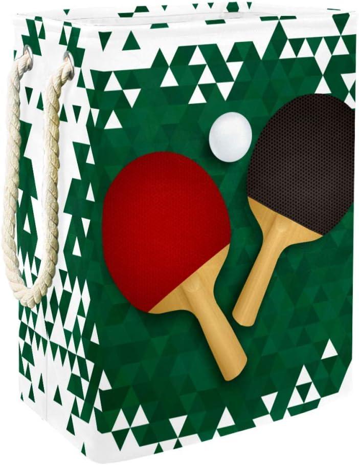 Lurnies Cesto de la Ropa Bate de Ping-Pong Plegable con Mango para Ropa de Manta para bebés/Almacenamiento de Juguetes para niños