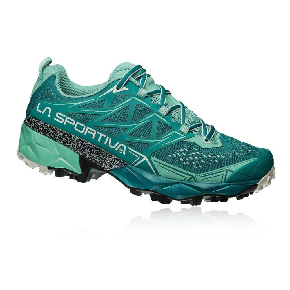 La Sportiva Akyra Woman, Zapatillas de Trail Running para Mujer 36.5 EU|Multicolor (Emerald / Mint 000)