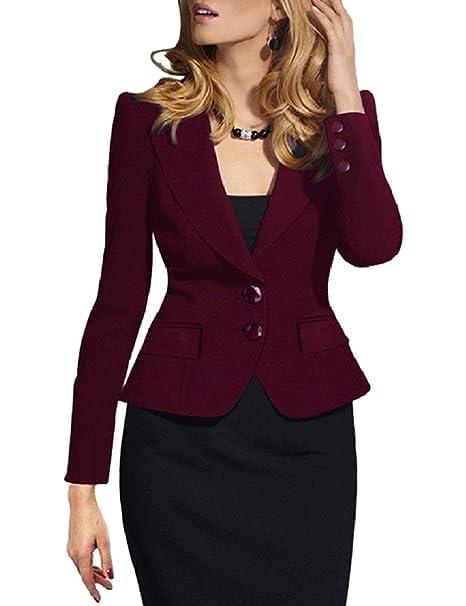 Donna Cappotto Corto Autunno Moda Leisure Suit Manica 34