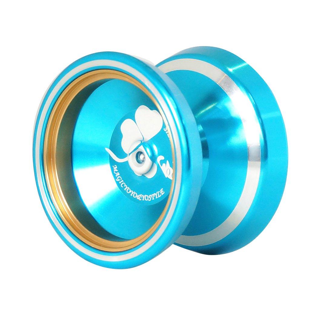 Blue Professional Magic Yoyo M001 Advanced Aluminum YO-YO Ball Multi Tricks
