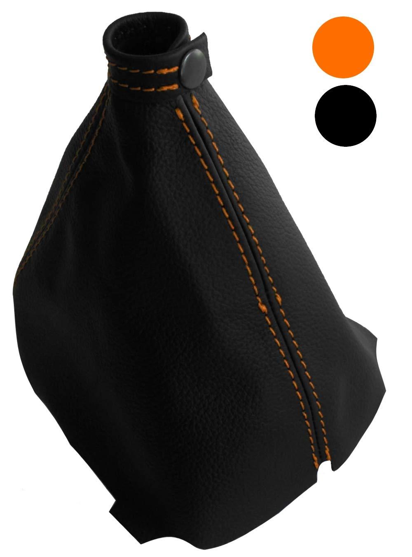 AERZETIX noires Soufflet de levier de vitesse en 100/% CUIR v/éritable couture//surpiq/ûres couleurs variables