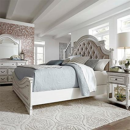 Amazon Com Liberty Furniture Magnolia Manor Queen Upholstered Bed