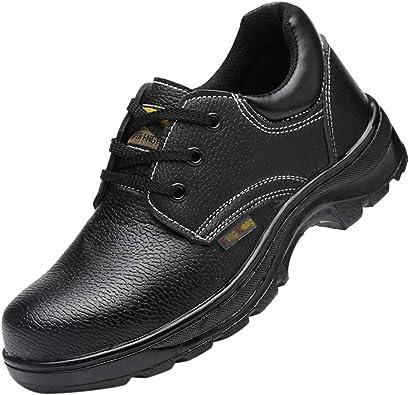 LHWY Zapatillas Deporte Running Zapatos Respirable Calzado de Seguridad Laboral para Hombre Calzado Antideslizante Antideslizante Antideslizante con Punta de Acero: Amazon.es: Zapatos y complementos