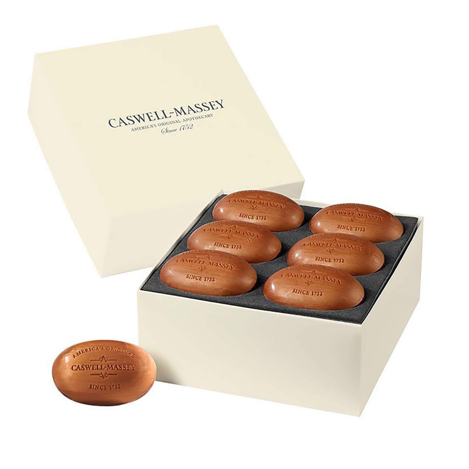 Caswell-Massey Triple Milled Woodgrain Sandalwood Luxury Bath Soap - Year of Soap Boxed Set – 5.8 Ounce Each, 12 Bars