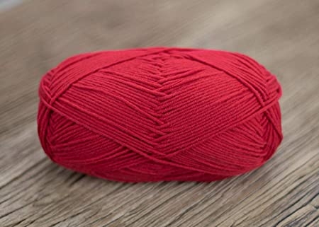 Hilo de lana lana algodón bufanda gruesa línea @ rojo: Amazon.es: Hogar