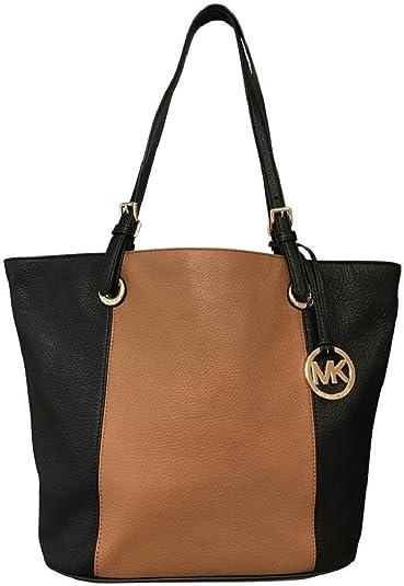 1bee78514f43 Michael Kors Rare Black Leather Nickel Astor Studded Lattington Satchel  Handbag